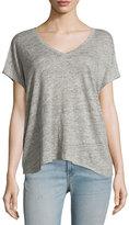 Rag & Bone Malibu Linen V-Neck T-Shirt, Heather Gray