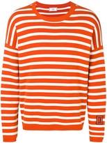 Ami Paris striped patch jumper