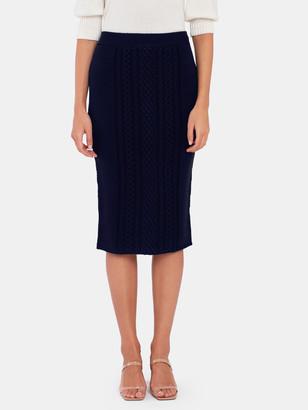 ATM Anthony Thomas Melillo Wool Blend Midi Sweater Skirt
