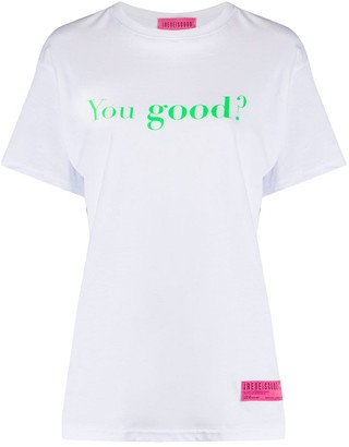 Ireneisgood You Good? print relaxed fit T-shirt