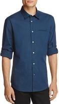 John Varvatos Plaid Roll Sleeve Slim Fit Button-Down Shirt