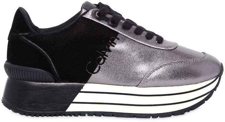 Calvin Klein Jeans 40mm Carlita Metallic Canvas Sneakers