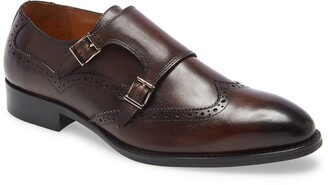 Ike Behar Easton Double Monk Strap Shoe