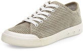 Rag & Bone Standard Issue Perforated Suede Low-Top Sneaker, Gray