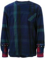 Sacai contrast cuff T-shirt