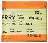 Burberry Train Ticket Print Leather International Bifold Wallet