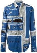 Chalayan 'Nowhere' print classic shirt