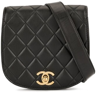 Chanel Pre Owned 1990 Quilted Rounded Belt Bag