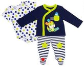 Taggies TaggiesTM Size 9M 3-Piece Take Me Home Dino Pant Set in Navy
