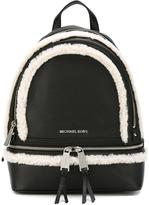 MICHAEL Michael Kors medium 'Rhea' backpack - women - Leather/Sheep Skin/Shearling - One Size