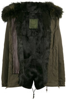 Mr & Mrs Italy Brown rabbit fur lined parka coat