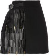 Fausto Puglisi fringed A-line skirt - women - Silk/Lamb Skin/Acetate/Wool - 40