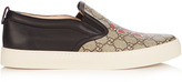 Gucci GG Supreme snake-print low-top trainers