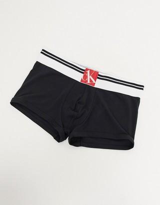 Calvin Klein One Sock waistband low rise trunks in black