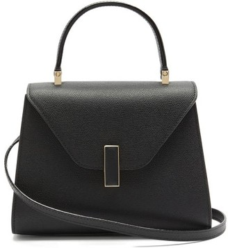 Valextra Iside Mini Grained-leather Bag - Black