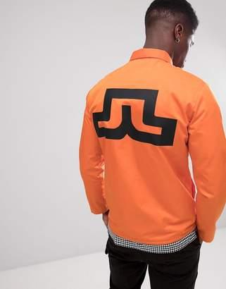 J. Lindeberg back logo jacket in orange