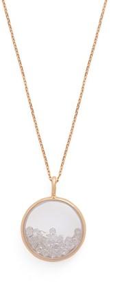 Aurelie Bidermann Fine Jewellery - Chivor 18kt Gold And Diamond Medallion Necklace - Womens - Crystal