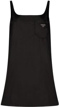 Prada Logo-Print Slip Dress