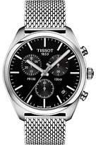 Tissot T1014071104100 Pr100 Chronograph Date Bracelet Strap Watch, Silver/black