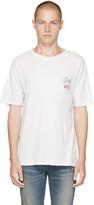 Saint Laurent White 'Bouche' Logo T-Shirt