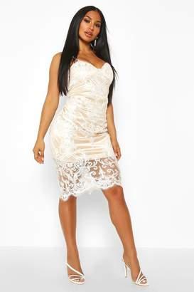 boohoo Embellished Midi Dress