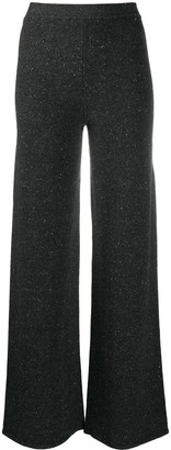 Gentry Portofino Speckle-Knit Cashmere Trousers