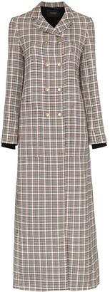 Giambattista Valli Houndstooth Check Print Wool Coat