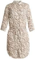 Heidi Klein Kalahari zebra-print poplin shirtdress