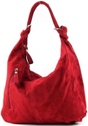 modamoda de - ital. Leather Bag Hobo Bag Leather Bag Wild Leather Large T158