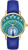 Kate Spade Women's Metro Cobalt Blue Leather Strap Watch 34mm KSW1285