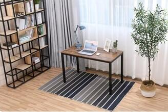 """Inbox Zero Home Office Desk Color (Top/Frame): Brown/Black, Size: 29.5"""" H x 47.2"""" W x 23.6"""" D"""