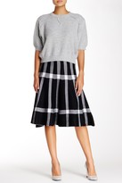 Gracia Checkered Knit Flare Skirt