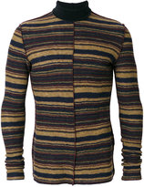 Maison Margiela striped fitted roll-neck sweater