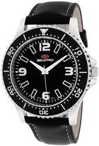 Seapro Tideway Mens Black Leather Strap Watch