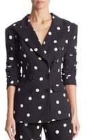 Monse Silk Dot Tie Jacket