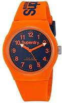 Superdry 'Urban' Quartz Plastic and Silicone Dress Watch, Color:Orange (Model: SYG164O)