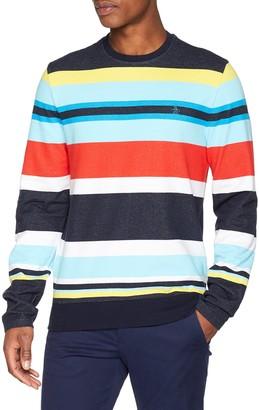 Original Penguin Men's Stripe Terry Crew Sweatshirt