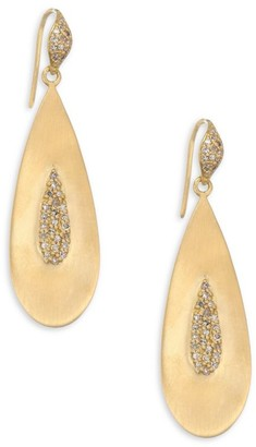 Bavna 18K Gold Teardrop Earrings