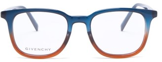 Givenchy Bi-colour Square Acetate Glasses - Blue Multi