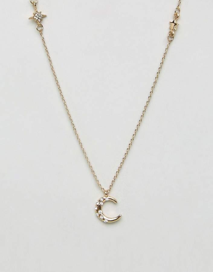 Asos Stars Station Long Pendant Necklace