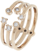 Accessorize Rose Gold Open Shapes Ring
