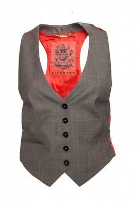 John Richmond Grey Wool Knitwear