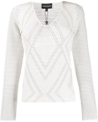 Emporio Armani Pointelle Stitch Sweater