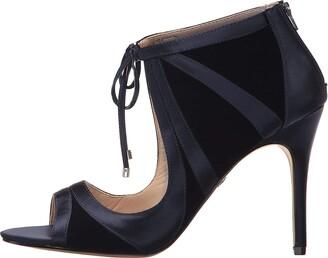 Nina Womens Cherie Fabric Open Toe Classic Pumps Beige Size 9.5