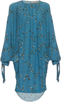 Preen Line Balloon-sleeved daisy-print crepe dress