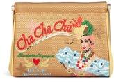 Charlotte Olympia 'Cha Cha Cha Maggie' embroidered clutch