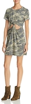 Honey Punch Camo Cutout Tee Dress