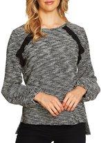 CeCe Long Sleeve Tweedy Shirt