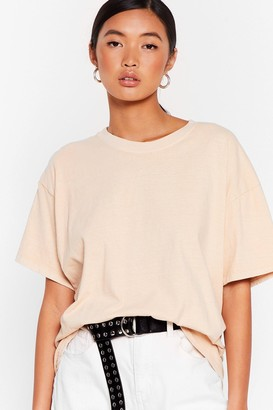 Nasty Gal Womens What's the Relaxed Crew Neck Tee - Grey - S