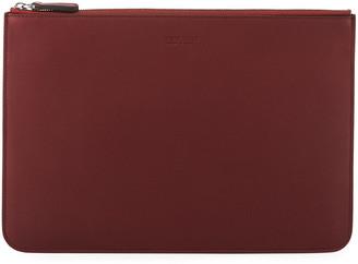 Giorgio Armani Men's Tumbled Leather Document Holder, Burgundy